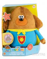 A-woof! It's the super duggee plush toy and he's ready for lots of cuddles and comes with collectible character badge.