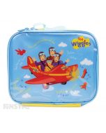 Anthony, Emma, Simon and Lachy are in the Big Red Plane and singing 'Do the Propeller' on the lunch bag.