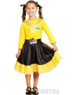Dress up as the yellow Wiggle, Emma Watkins, who loves ballet and sign language, with a bowtiful dress featuring her yellow skivvy and black skirt.