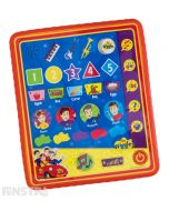Fun electronic and educational toy for little ones to learn to recognise numbers, letters, words, shapes, colours, characters and musical instruments. Touch the Big Red Car for quiz game to hear questions and learn if your answer is correct.